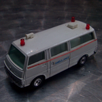 Grip Zechin Eidai Japan, #43 Nissan Caravan Ambulance Van,  70's diecast model @sold@